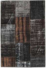 Patchwork Tapis 121X183 Moderne Fait Main Noir/Gris Foncé (Laine, Turquie)
