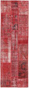 Patchwork Tapis 80X257 Moderne Fait Main Tapis Couloir Rouge Foncé/Rouge (Laine, Turquie)