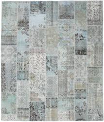 Patchwork Tapis 251X298 Moderne Fait Main Gris Clair/Bleu Turquoise Grand (Laine, Turquie)