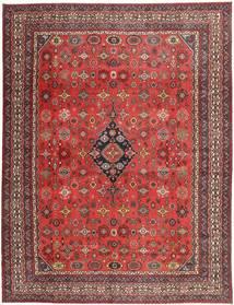 Hamadan Shahrbaf Patina Tapis 313X413 D'orient Fait Main Rouge Foncé/Rouille/Rouge Grand (Laine, Perse/Iran)