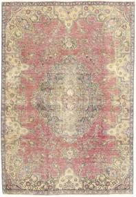 Colored Vintage Tapis 184X264 Moderne Fait Main Beige/Gris Clair (Laine, Perse/Iran)
