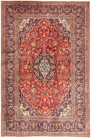 Kashan Tapis 195X302 D'orient Fait Main Rouge Foncé/Beige (Laine, Perse/Iran)
