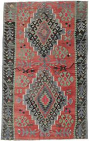 Kilim Turquie Tapis 163X261 D'orient Tissé À La Main Rouge Foncé/Gris Clair (Laine, Turquie)