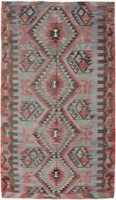 Kilim Turquie Tapis 170X293 D'orient Tissé À La Main Gris Foncé/Marron (Laine, Turquie)