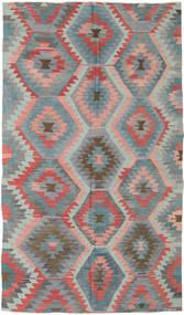 Kilim Turquie Tapis 165X288 D'orient Tissé À La Main Gris Foncé/Gris Clair (Laine, Turquie)