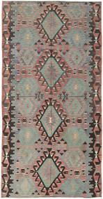 Kilim Turquie Tapis 160X308 D'orient Tissé À La Main Gris Foncé/Gris Clair (Laine, Turquie)