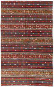 Kilim Turquie Tapis 168X280 D'orient Tissé À La Main Rouge Foncé/Gris Foncé (Laine, Turquie)