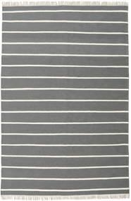 Dhurrie Stripe - Gris Tapis 200X300 Moderne Tissé À La Main Gris Foncé/Vert Foncé (Laine, Inde)