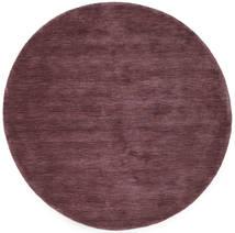 Handloom - Bordeaux Tapis Ø 150 Moderne Rond Violet Foncé/Marron Foncé (Laine, Inde)