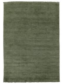 Handloom Fringes - Vert Forêt Tapis 160X230 Moderne Vert Foncé/Vert Foncé (Laine, Inde)