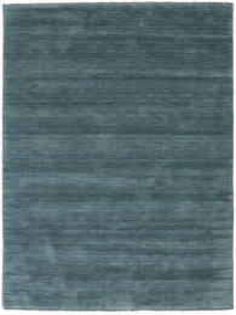 Handloom Fringes - Petrole Profonde Tapis 160X230 Moderne Bleu (Laine, Inde)