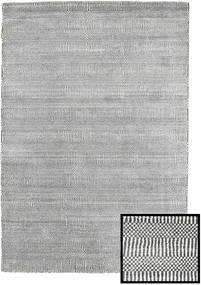Bambou Grass - Black_ Gris Tapis 120X180 Moderne Gris Clair/Gris Foncé (Laine/Soie De Bambou, Turquie)