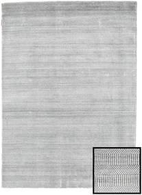 Bambou Grass - Gris Tapis 140X200 Moderne Gris Clair/Blanc/Crème (Laine/Soie De Bambou, Turquie)