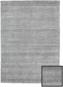 Bambou Grass - Black_ Gris Tapis 140X200 Moderne Gris Clair/Gris Foncé (Laine/Soie De Bambou, Turquie)