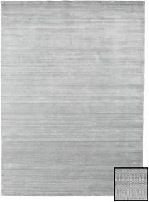 Bambou Grass - Gris Tapis 210X290 Moderne Gris Clair (Laine/Soie De Bambou, Turquie)