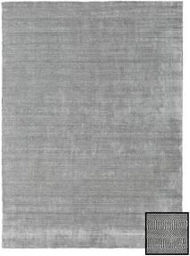 Bambou Grass - Black_ Gris Tapis 210X290 Moderne Gris Clair (Laine/Soie De Bambou, Turquie)