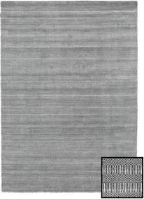 Bambou Grass - Black_ Gris Tapis 160X230 Moderne Gris Clair/Gris Foncé (Laine/Soie De Bambou, Turquie)
