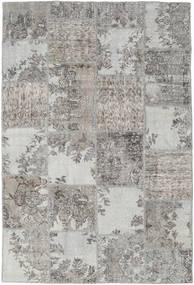 Patchwork Tapis 157X234 Moderne Fait Main Gris Clair (Laine, Turquie)