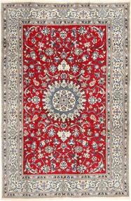 Naïn Tapis 196X297 D'orient Fait Main Gris Clair/Marron (Laine, Perse/Iran)