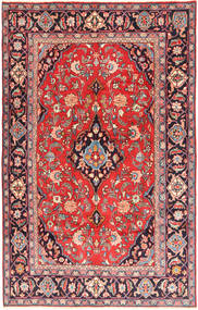 Kashan Tapis 193X310 D'orient Fait Main Marron/Violet Foncé (Laine, Perse/Iran)