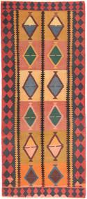 Kilim Fars Tapis 145X337 D'orient Tissé À La Main Tapis Couloir Orange/Noir (Laine, Perse/Iran)