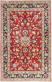 Yazd Tapis 193X305 D'orient Fait Main Gris Foncé/Rouge Foncé (Laine, Perse/Iran)