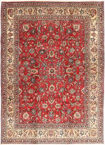 Hamadan Shahrbaf Tapis 235X327 D'orient Fait Main Rouge Foncé/Rouille/Rouge (Laine, Perse/Iran)