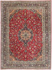 Kashan Patina Tapis 247X337 D'orient Fait Main Rouge Foncé/Rouge (Laine, Perse/Iran)