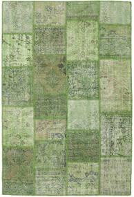 Patchwork Tapis 158X236 Moderne Fait Main Vert Olive/Vert Clair (Laine, Turquie)