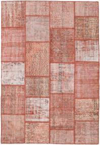 Patchwork Tapis 159X232 Moderne Fait Main Rose Clair/Rouge Foncé (Laine, Turquie)