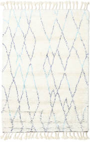 Rana - Natural/Bleu Tapis 120X180 Moderne Fait Main Beige/Blanc/Crème (Laine, Inde)