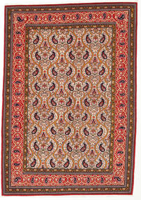 Ghom Kork/Soie Tapis 142X205 D'orient Fait Main Marron Foncé/Rouge (Laine/Soie, Perse/Iran)