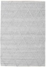 Svea - Argent Tapis 140X200 Moderne Tissé À La Main Gris Clair/Blanc/Crème (Laine, Inde)