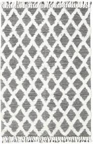 Inez - Marron Foncé/Blanc Tapis 160X230 Moderne Tissé À La Main Beige/Gris Clair (Laine, Inde)
