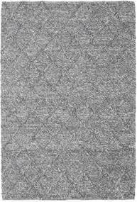 Rut - Gris Foncé Melange Tapis 160X230 Moderne Tissé À La Main Gris Clair/Marron Foncé (Laine, Inde)