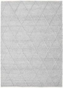 Svea - Argent Tapis 160X230 Moderne Tissé À La Main Gris Clair/Blanc/Crème (Laine, Inde)