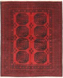 Afghan Tapis 149X185 D'orient Fait Main Rouge Foncé/Rouille/Rouge (Laine, Afghanistan)