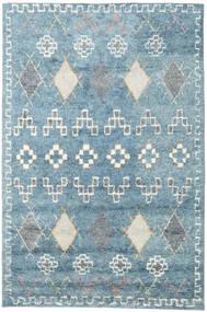 Zaurac - Bleu Gris Tapis 200X300 Moderne Fait Main Bleu Clair/Blanc/Crème (Laine, Inde)