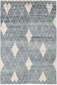 Hatsya - Gris Tapis 200X300 Moderne Fait Main Gris Clair/Bleu (Laine, Inde)