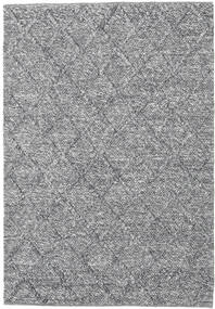 Rut - Gris Foncé Melange Tapis 140X200 Moderne Tissé À La Main Gris Clair/Bleu Clair (Laine, Inde)