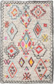 Fatima - Multi Tapis 160X230 Moderne Tissé À La Main Gris Clair/Beige (Laine, Inde)