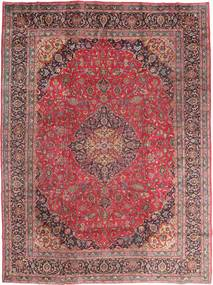 Mashad Tapis 295X395 D'orient Fait Main Rouge Foncé/Marron Grand (Laine, Perse/Iran)