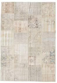 Patchwork Tapis 159X230 Moderne Fait Main Gris Clair (Laine, Turquie)