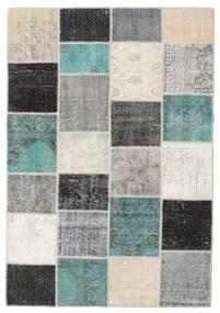 Patchwork Tapis 160X232 Moderne Fait Main Gris Clair/Beige (Laine, Turquie)