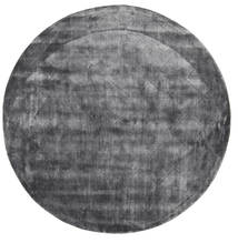 Brooklyn - Stormy Grey Tapis Ø 200 Moderne Rond Gris Foncé/Gris Clair ( Inde)