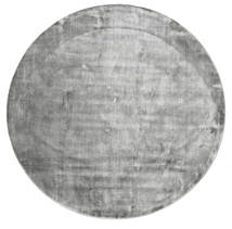Broadway - Misty Grey Tapis Ø 300 Moderne Rond Gris Clair/Gris Foncé Grand ( Inde)