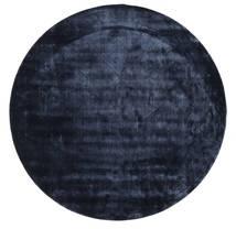 Brooklyn - Bleu Nuit Tapis Ø 300 Moderne Rond Bleu Foncé/Bleu Grand ( Inde)