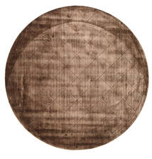 Brooklyn - Marron Tapis Ø 300 Moderne Rond Marron/Marron Foncé Grand ( Inde)