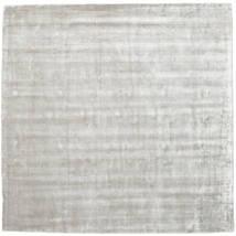 Broadway - Argenté Blanc Tapis 250X250 Moderne Carré Gris Clair Grand ( Inde)