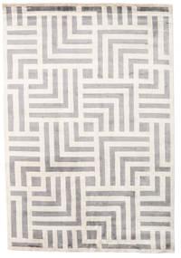 Maze Tapis 170X240 Moderne Fait Main Gris Clair/Beige ( Inde)